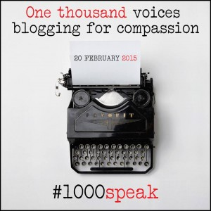 1000 voices blogging for compassion